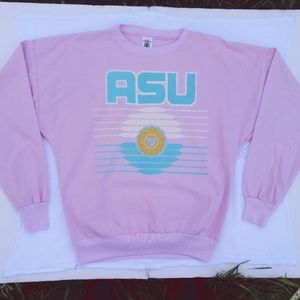 Vtg Pink ASU Cotton Long Sleeve Shirt Vapor 90s